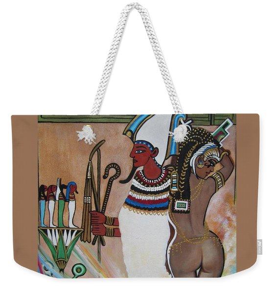 Blaa Kattproduksjoner         Osiris With Goddess Isis And 4 Grandkids Weekender Tote Bag