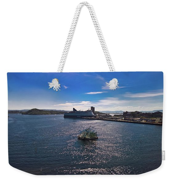 Oslo Fjord From The Roof Of The National Opera House Weekender Tote Bag