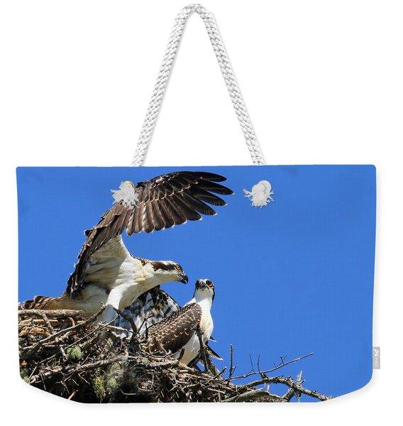 Osprey Chicks Ready To Fledge Weekender Tote Bag