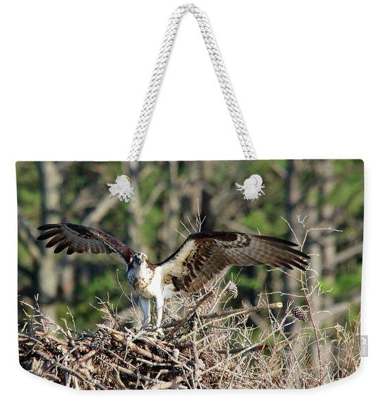 Osprey Nest Against Loblolly Weekender Tote Bag