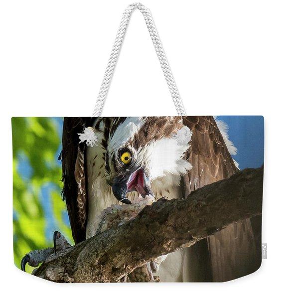 Osprey With Prey Weekender Tote Bag