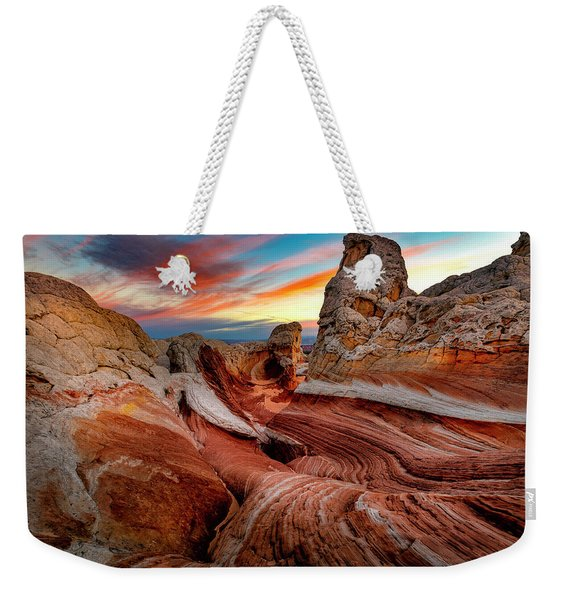 Other-world Sunrise Weekender Tote Bag