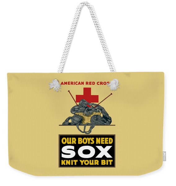 Our Boys Need Sox - Knit Your Bit Weekender Tote Bag