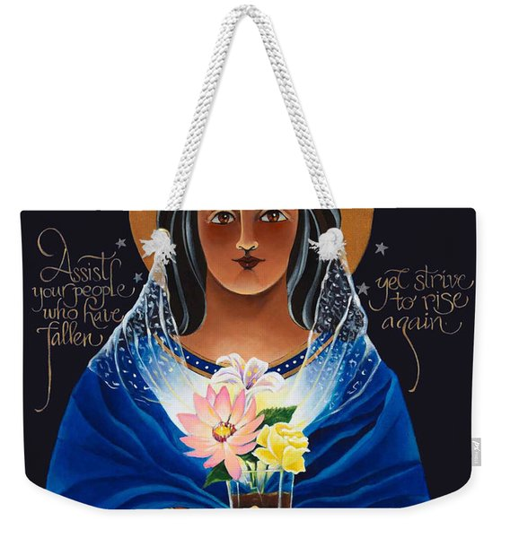Our Lady Of Light - Help Of The Addicted - Mmlol Weekender Tote Bag