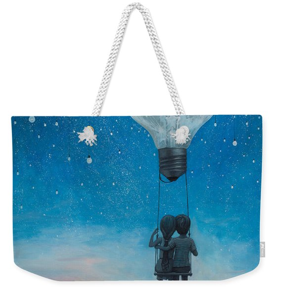 Our Love Will Light The Night Weekender Tote Bag