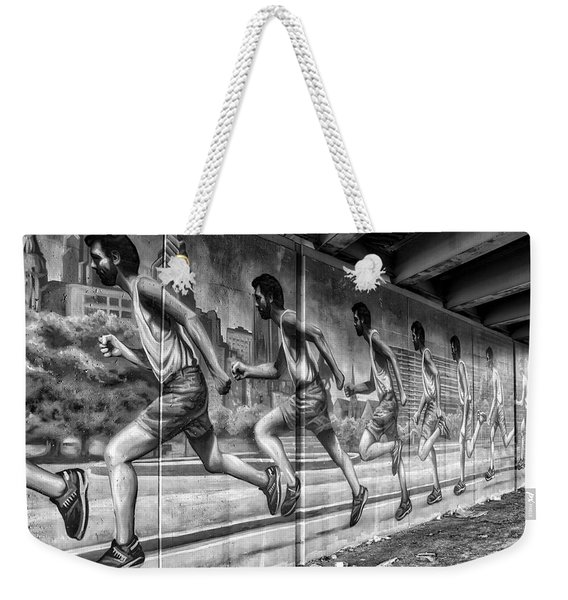 Out For A Run Weekender Tote Bag