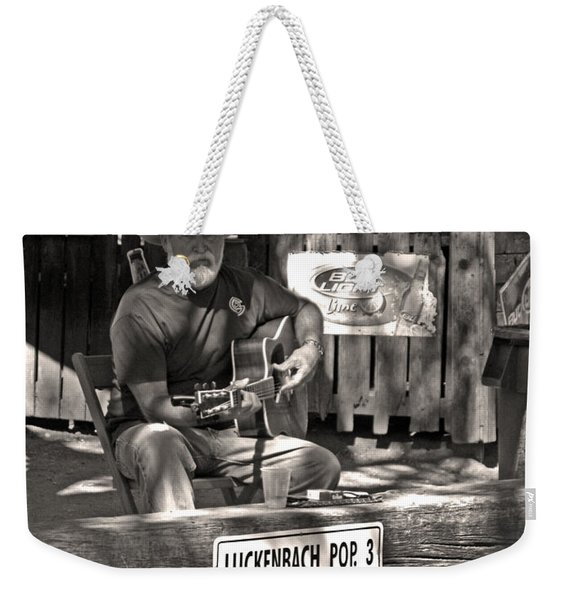 Out Luckenbach Way Weekender Tote Bag