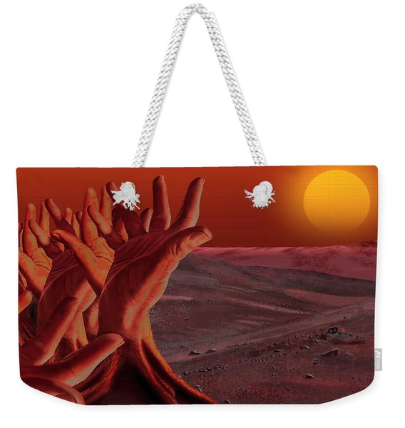 Out Of Hand Weekender Tote Bag