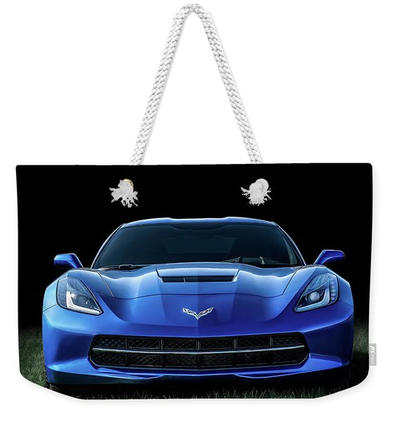 Blue 2013 Corvette Weekender Tote Bag