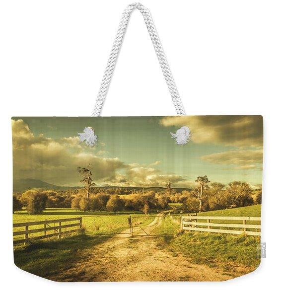 Outback Country Paddock Weekender Tote Bag