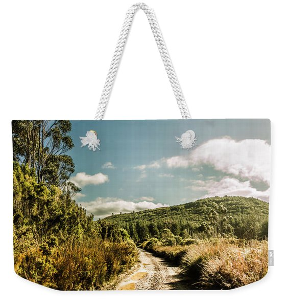 Outback Country Road Panorama Weekender Tote Bag