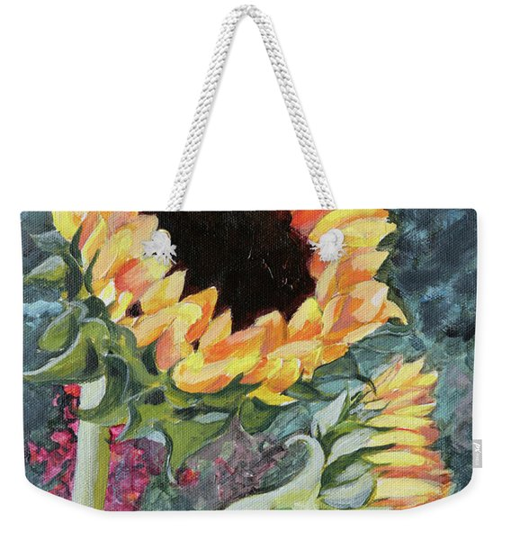 Outdoor Sunflowers Weekender Tote Bag