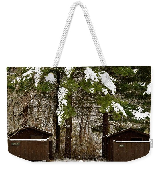 Outhouses In The Cold Weekender Tote Bag