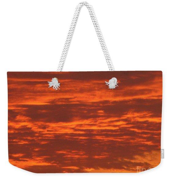 Outrageous Orange Sunrise Weekender Tote Bag