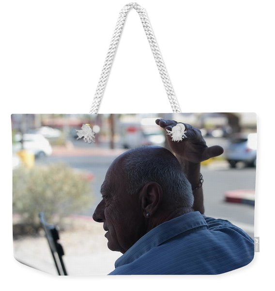 Outside The Cafe Weekender Tote Bag