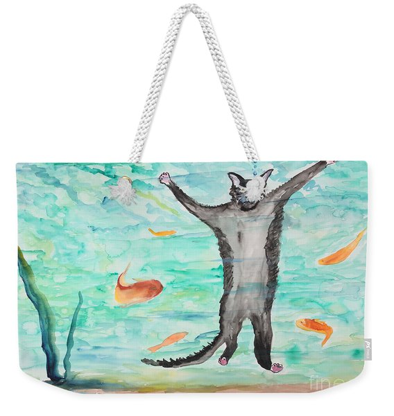 Outside The Fish Tank Weekender Tote Bag