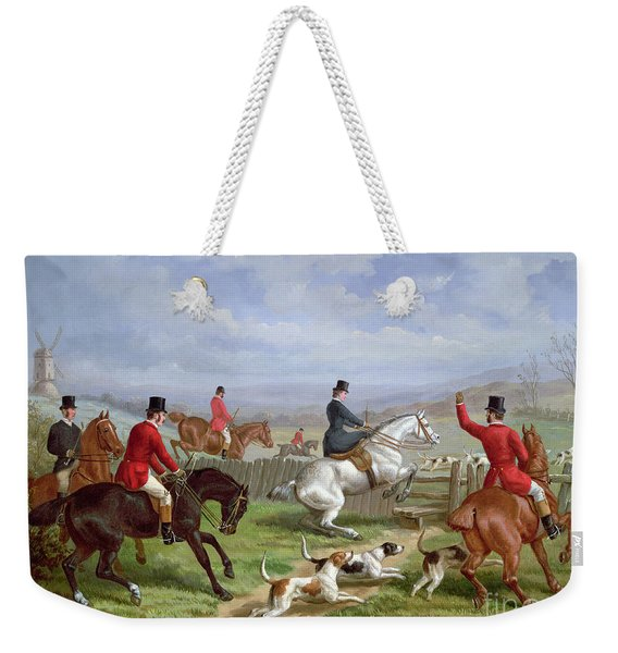 Over The Fence Weekender Tote Bag