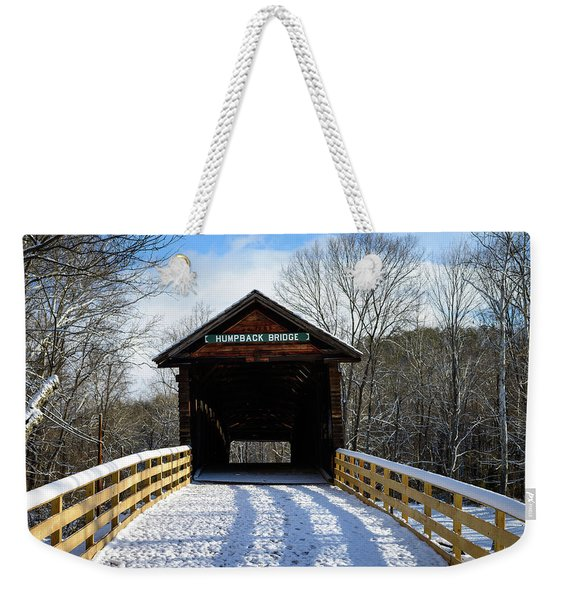 Over The River And Through The Bridge Weekender Tote Bag