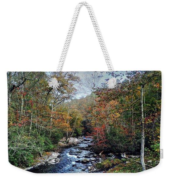 Over The Rocks Weekender Tote Bag