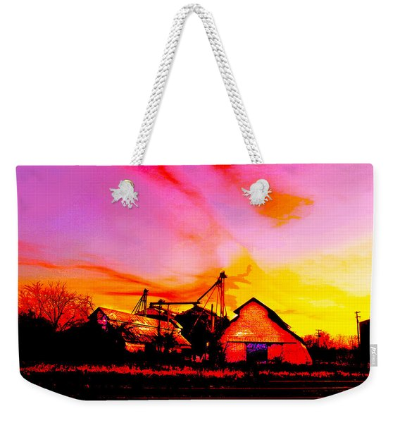 Over The Tracks --somewhere In Texas Weekender Tote Bag