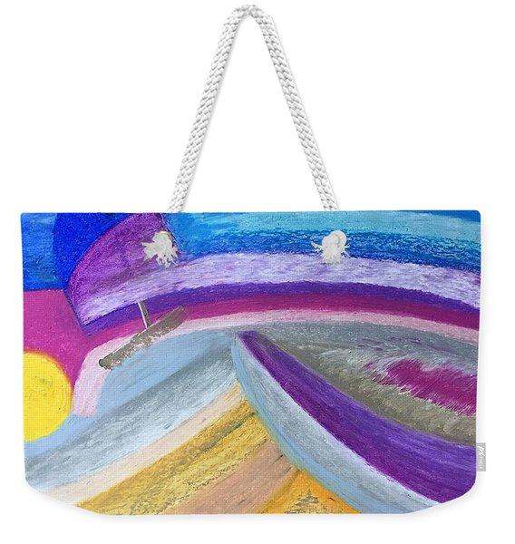 Over The Waves Weekender Tote Bag