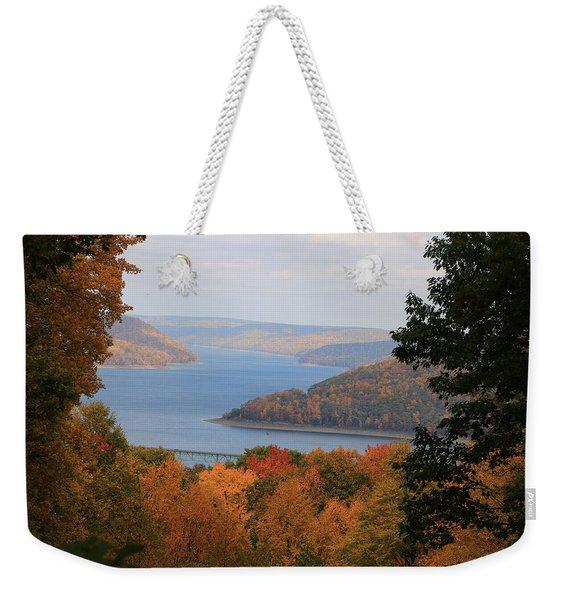 Overlooking Kinzua Lake Weekender Tote Bag