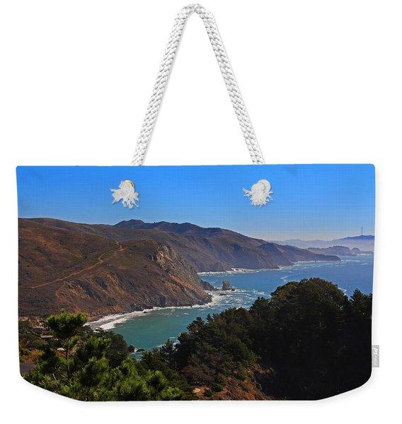 Overlooking Marin Headlands Weekender Tote Bag
