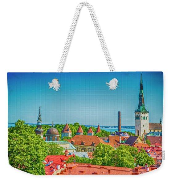 Overlooking Tallinn Weekender Tote Bag