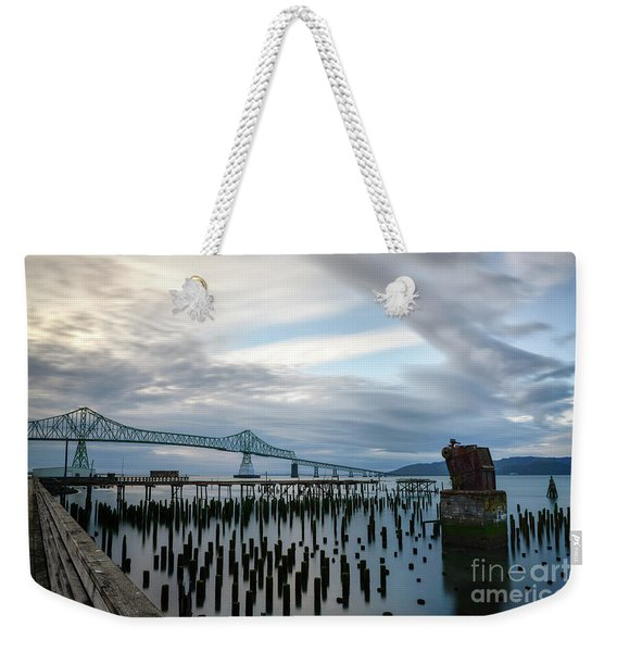Overlooking The Bridge Weekender Tote Bag