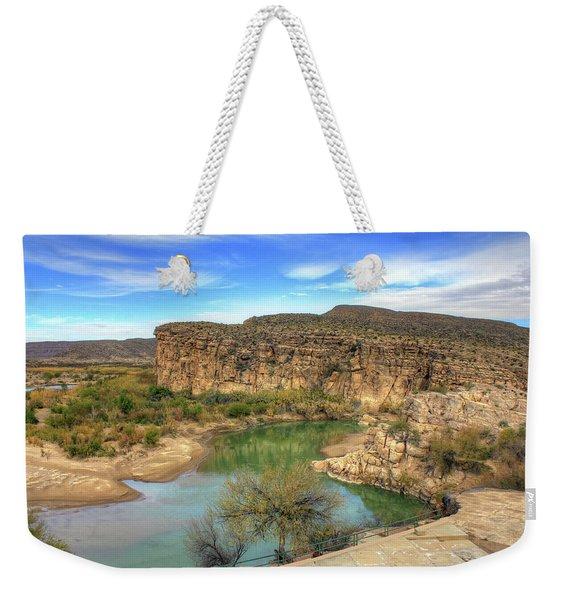 Overlooking The Rio Grande Weekender Tote Bag