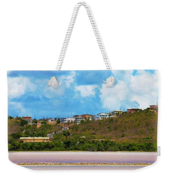 Overlooking The Salt Pond At Sandy Ground In Anguilla   Weekender Tote Bag