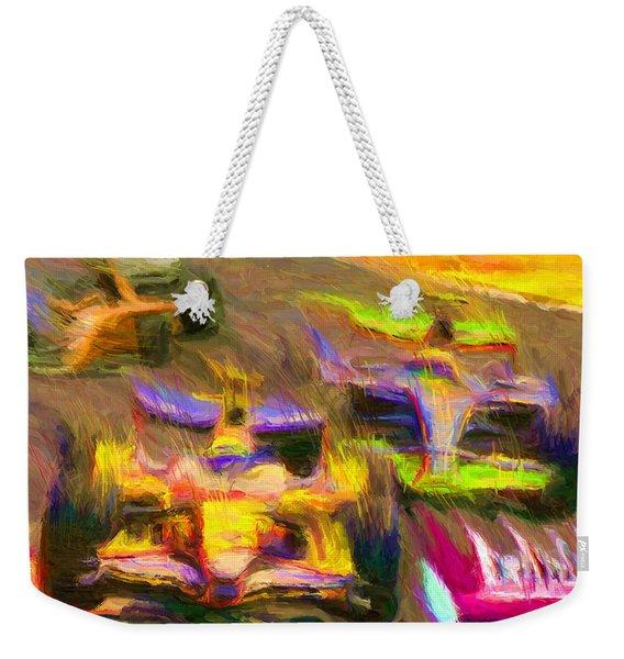 Overtaking Weekender Tote Bag