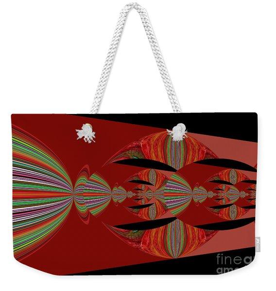 Red Abstract Ovs 26 Weekender Tote Bag