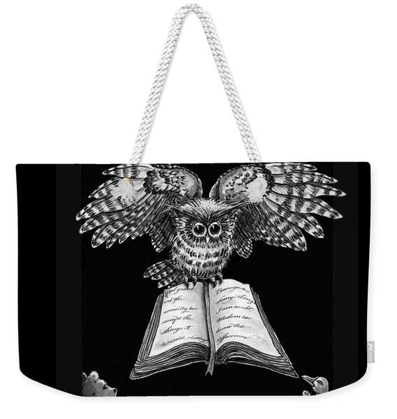 Owl And Friends Blackwhite Weekender Tote Bag