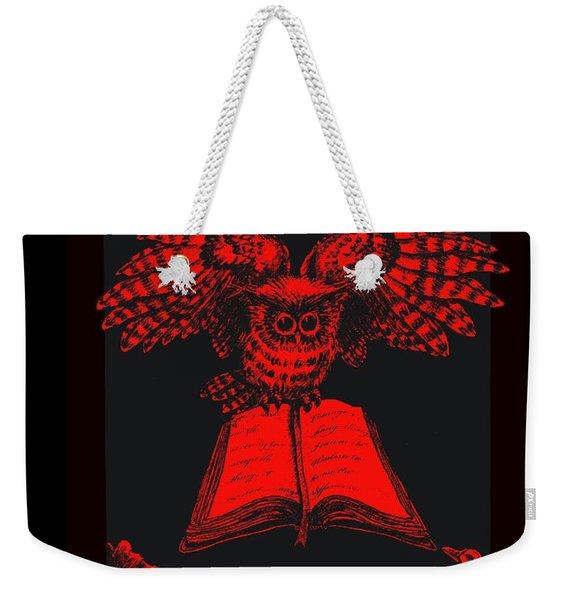 Owl And Friends Redblack Weekender Tote Bag