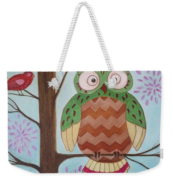 Owl Art Weekender Tote Bag