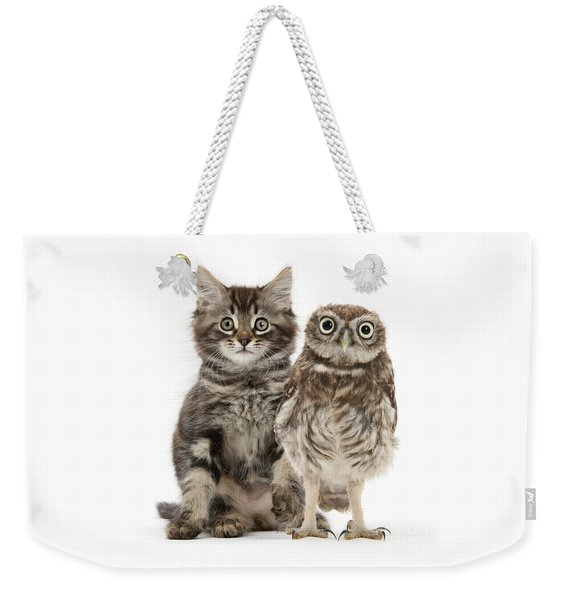 Owling And Yowling Weekender Tote Bag