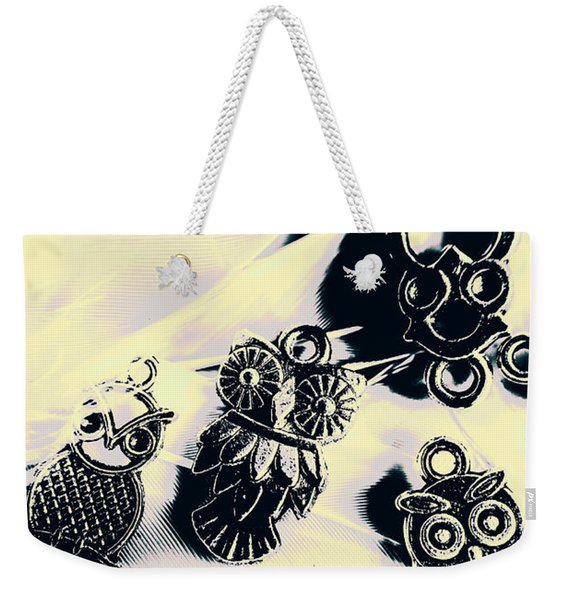 Owls From Blue Yonder Weekender Tote Bag