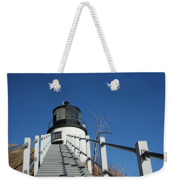 Owls Head Lighthouse Winter Weekender Tote Bag