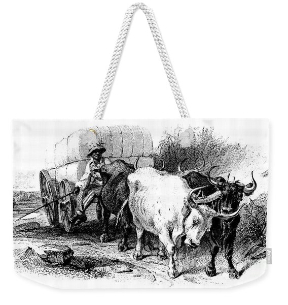 Oxen And Cart, 19th Century Weekender Tote Bag