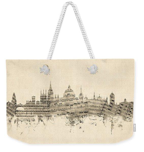 Oxford England Skyline Sheet Music Weekender Tote Bag