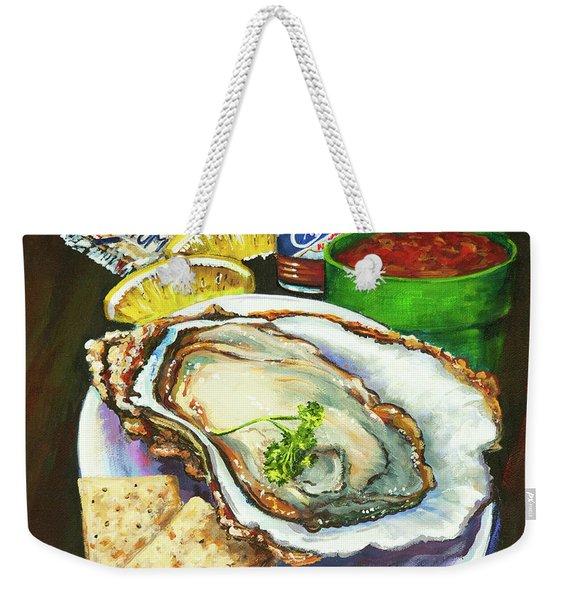 Oyster And Crystal Weekender Tote Bag