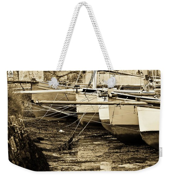 Oyster Boats Laid Up At Mylor Weekender Tote Bag
