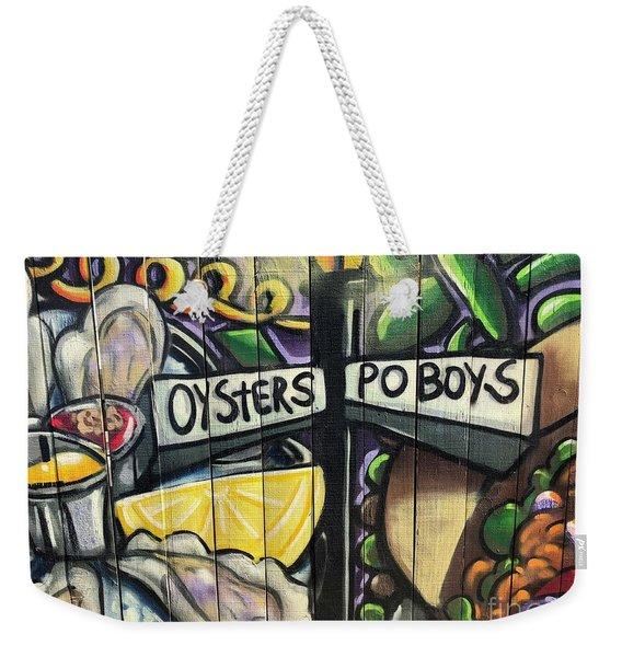 Oyster Poboys Weekender Tote Bag