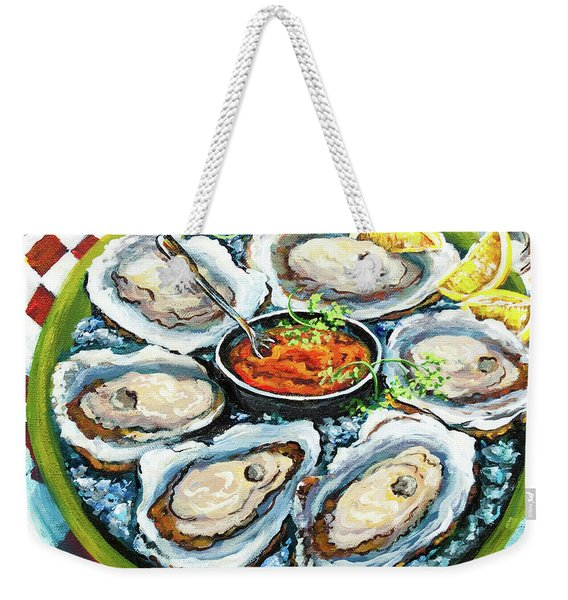 Oysters On The Half Shell Weekender Tote Bag