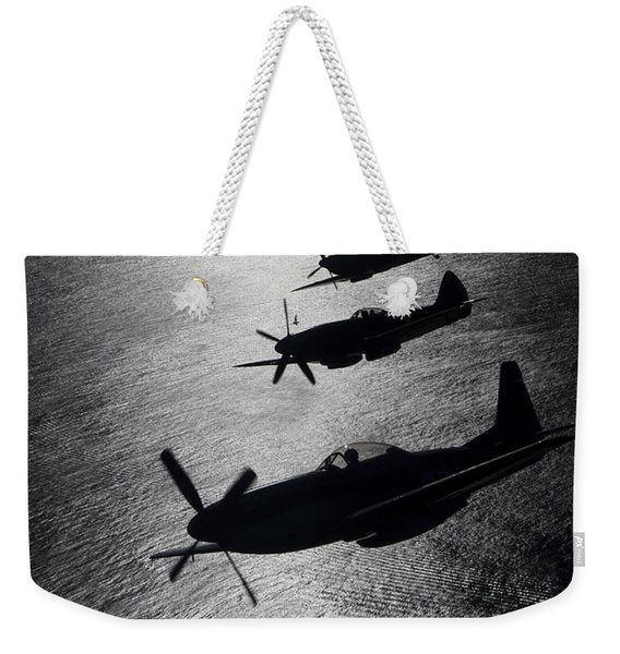 P-51 Cavalier Mustang With Supermarine Weekender Tote Bag