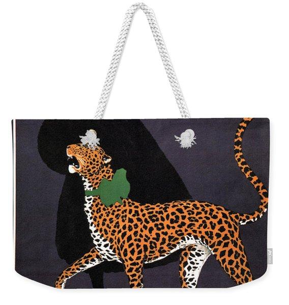 P Ruckmar And Co, Zurich - Switzerland - Lady, Cheetah, Fur Jacket - Vintage Fashion Advertisement Weekender Tote Bag