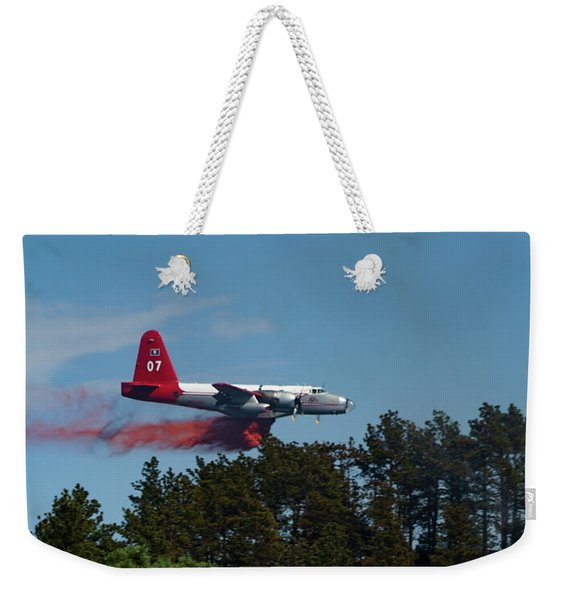 P2v Red Canyon Fire Weekender Tote Bag
