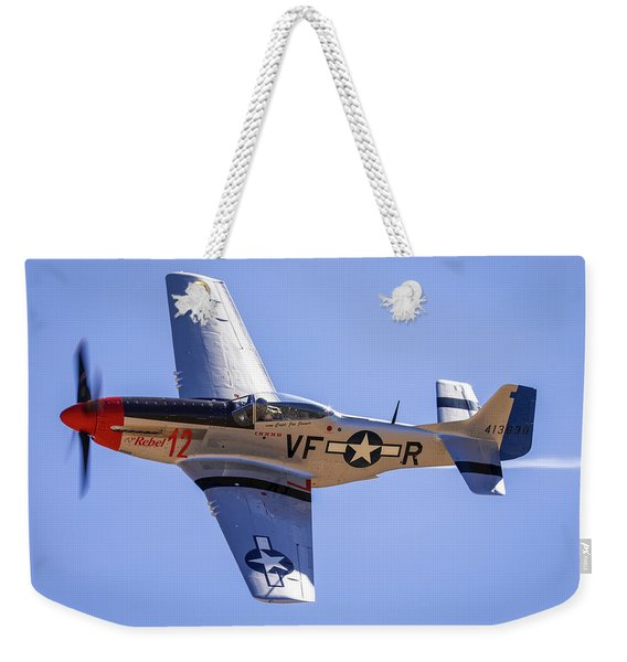 P51d Mustang At Reno Air Races Weekender Tote Bag