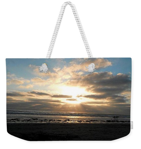 Pacific Beach Weekender Tote Bag